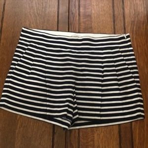 J. Crew  Navy White Stripe Shorts. Size 8